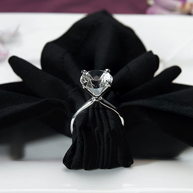 Silver Plated Diamond Napkin Holders